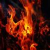 燃える炭1